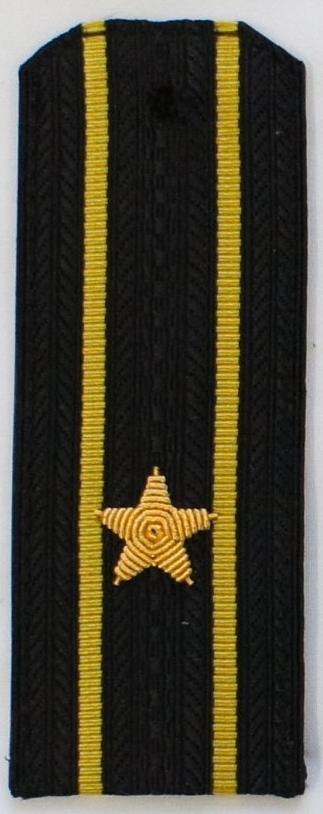 Погоны ВМФ вышитые Капитан 3 ранга повседневные