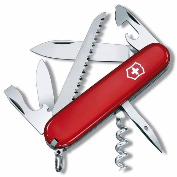 Купить Нож перочинный Victorinox Camper (1.3613) 91мм 13функций красный