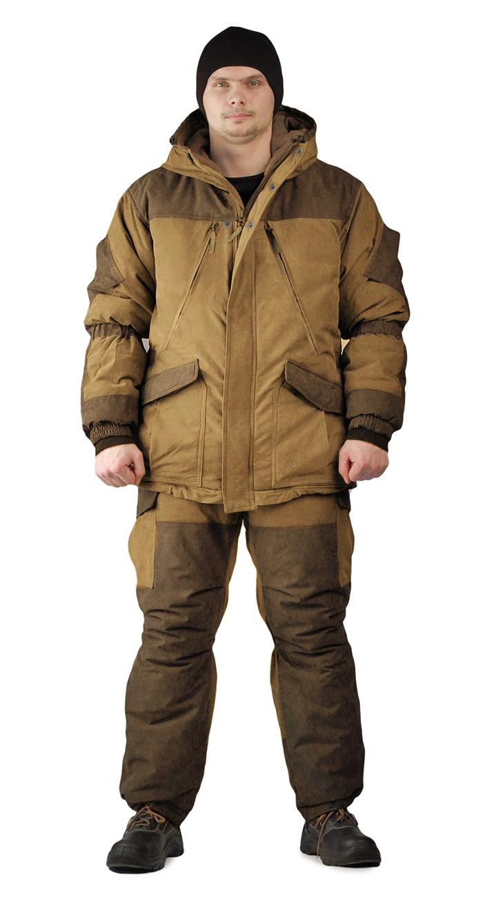 Костюм зимний ГРАСК куртка/полукомбинезон цвет: светло-коричневый/темно-коричневый, ткань : Канада, Зимние костюмы - арт. 1145500258