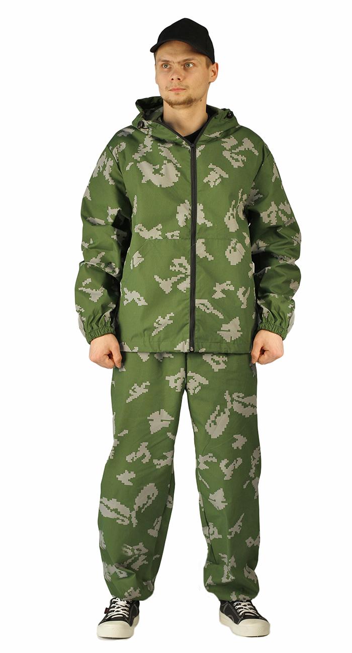 Купить Костюм МАСКХАЛАТ куртка/брюки, камуфляж Граница зеленый, ткань : Сорочечная, Ursus