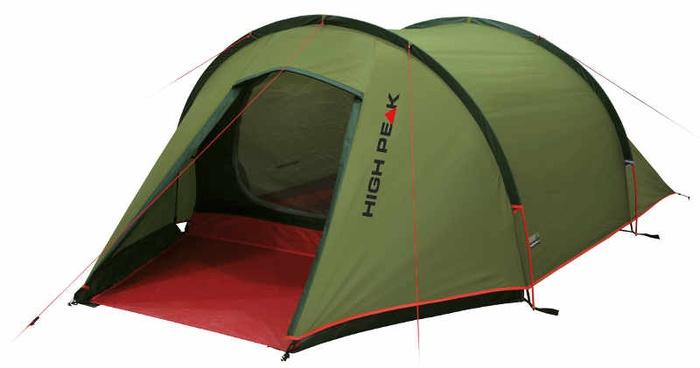 Палатка Kite 2 зеленый/красный, 140х330х90 см, 10188, Палатки двухместные - арт. 1039490320