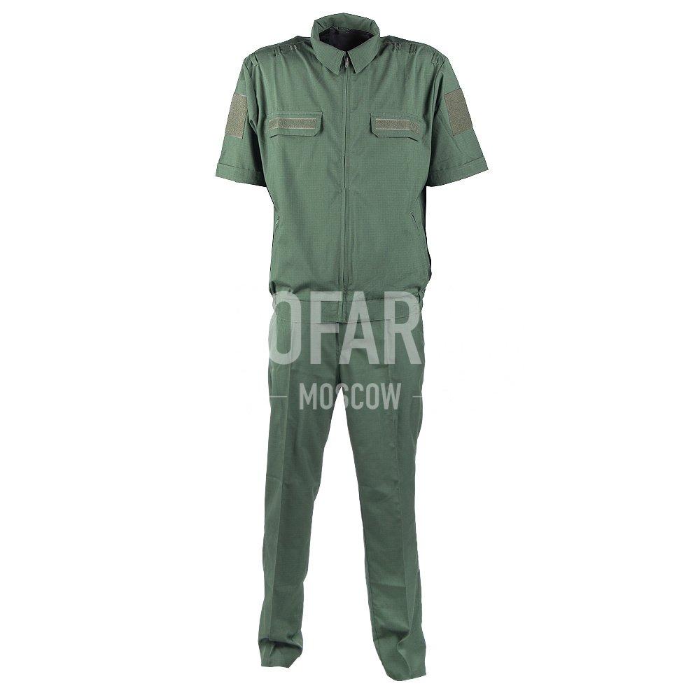 Костюм офисный МО короткий рукав, RipStop 170 (зеленый), Форменные костюмы - арт. 864500247