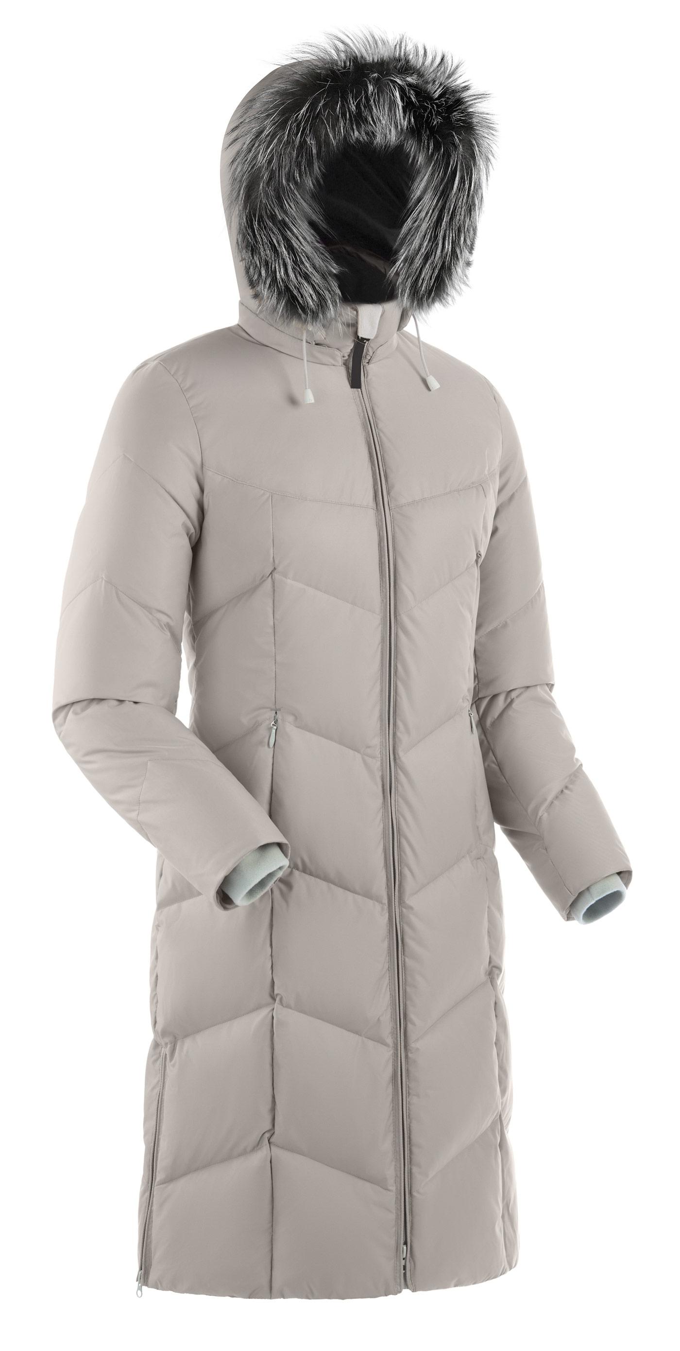 Пальто пуховое женское BASK ROUTE V3 серый свтл, Пальто - арт. 164890409