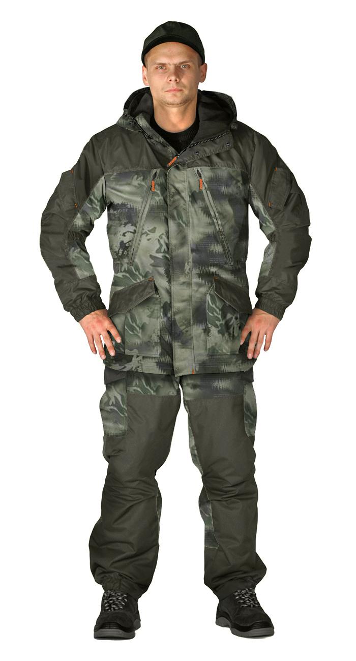 Купить Костюм демисезонный ГЕРКОН-ВЕСНА/ОСЕНЬ куртка/брюки цвет:, камуфляж Смог/хаки, ткань : Алова, Ursus