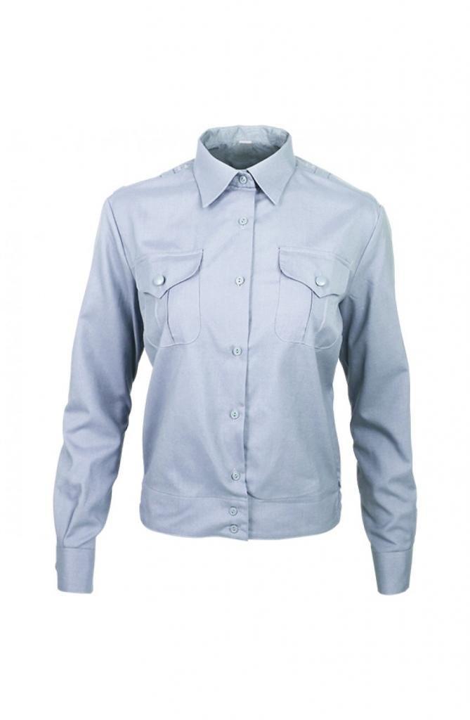 Рубашка Полиция женская светло-голубая длинный рукав
