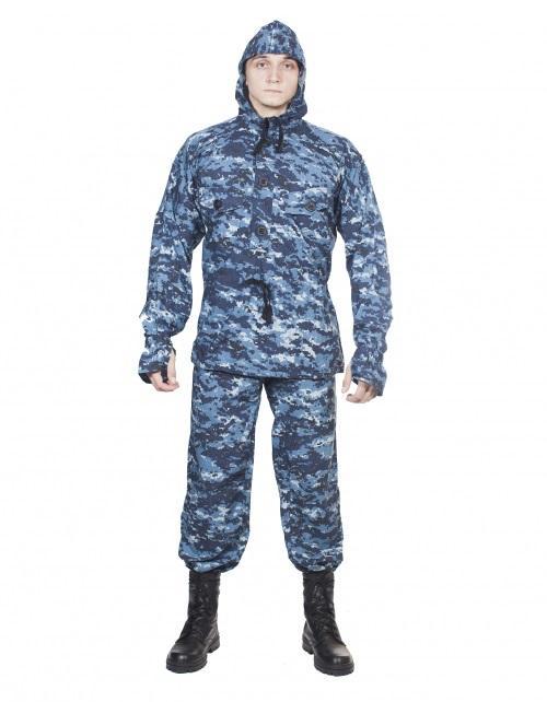 Костюм летний МПА-22 (Сумрак-2), камуфляж серо-голубая цифра крупная, Панацея