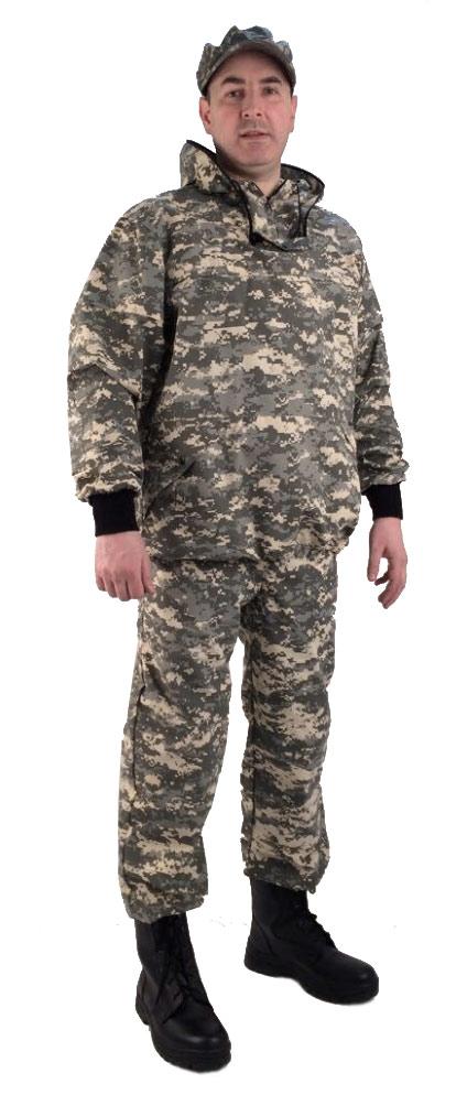 Костюм противоэнцефалитный летний, ткань тиси сорочечная-облегченная, камуфляж светло-серая цифра - артикул: 803710241