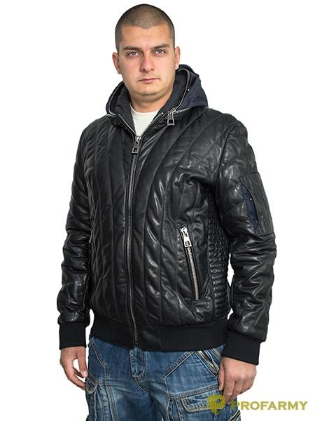 Куртка кожаная МК/17-7К Lagivert Vegital, Демисезонные куртки - арт. 1052890334