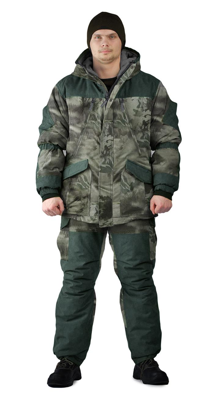 Костюм зимний ГЕРКОН куртка/брюки, цвет:, камуфляж смог/т.олива, ткань : Алова/Финляндия, Зимние брюки и полукомбинезоны - арт. 1122030348