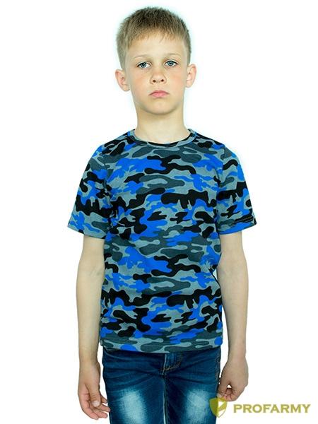 Купить Футболка детская Navy Blue Camo короткий рукав, PROFARMY