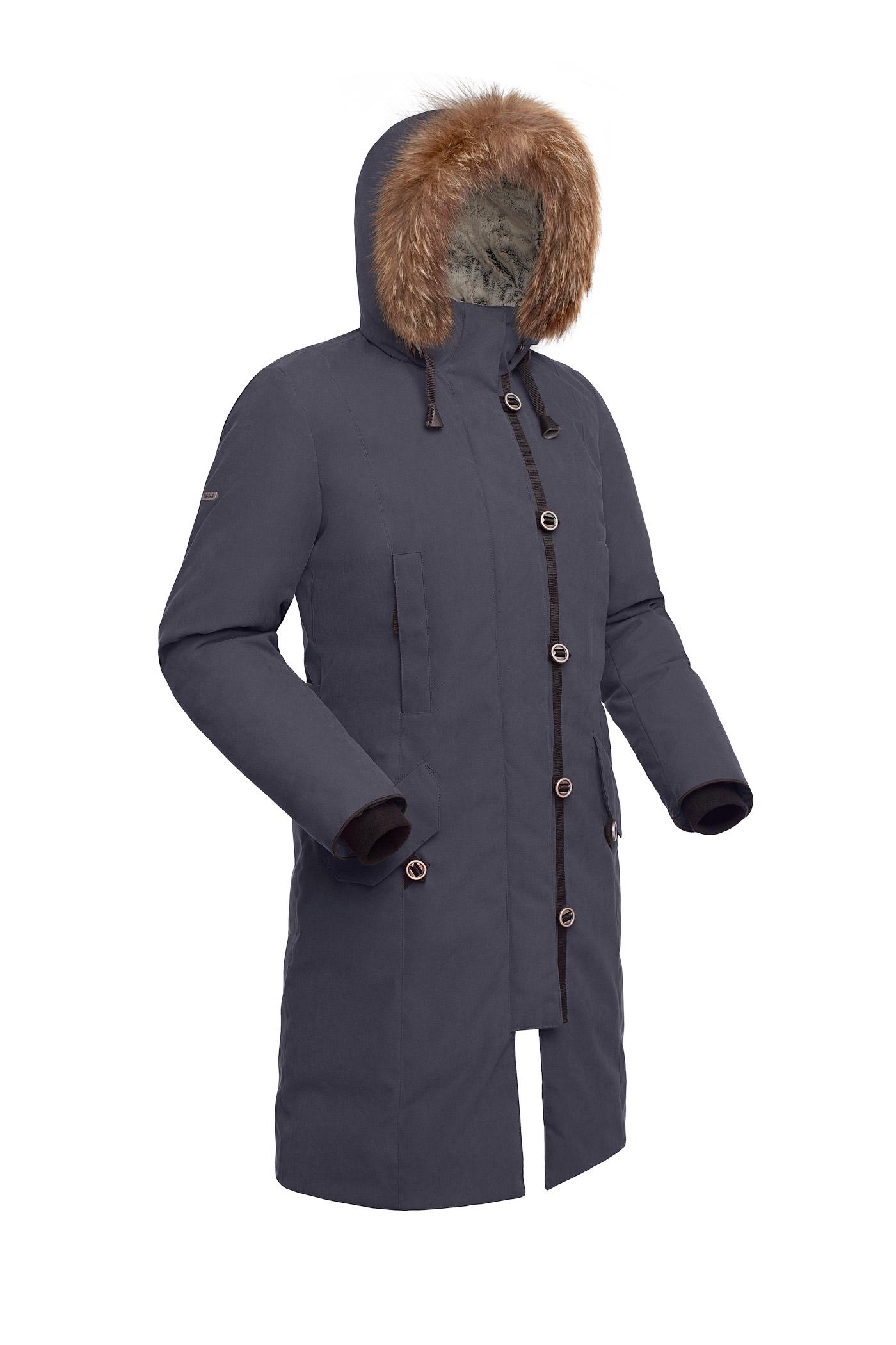Пальто пуховое женское BASK HATANGA V2 темно-серое, Пальто - арт. 971270409