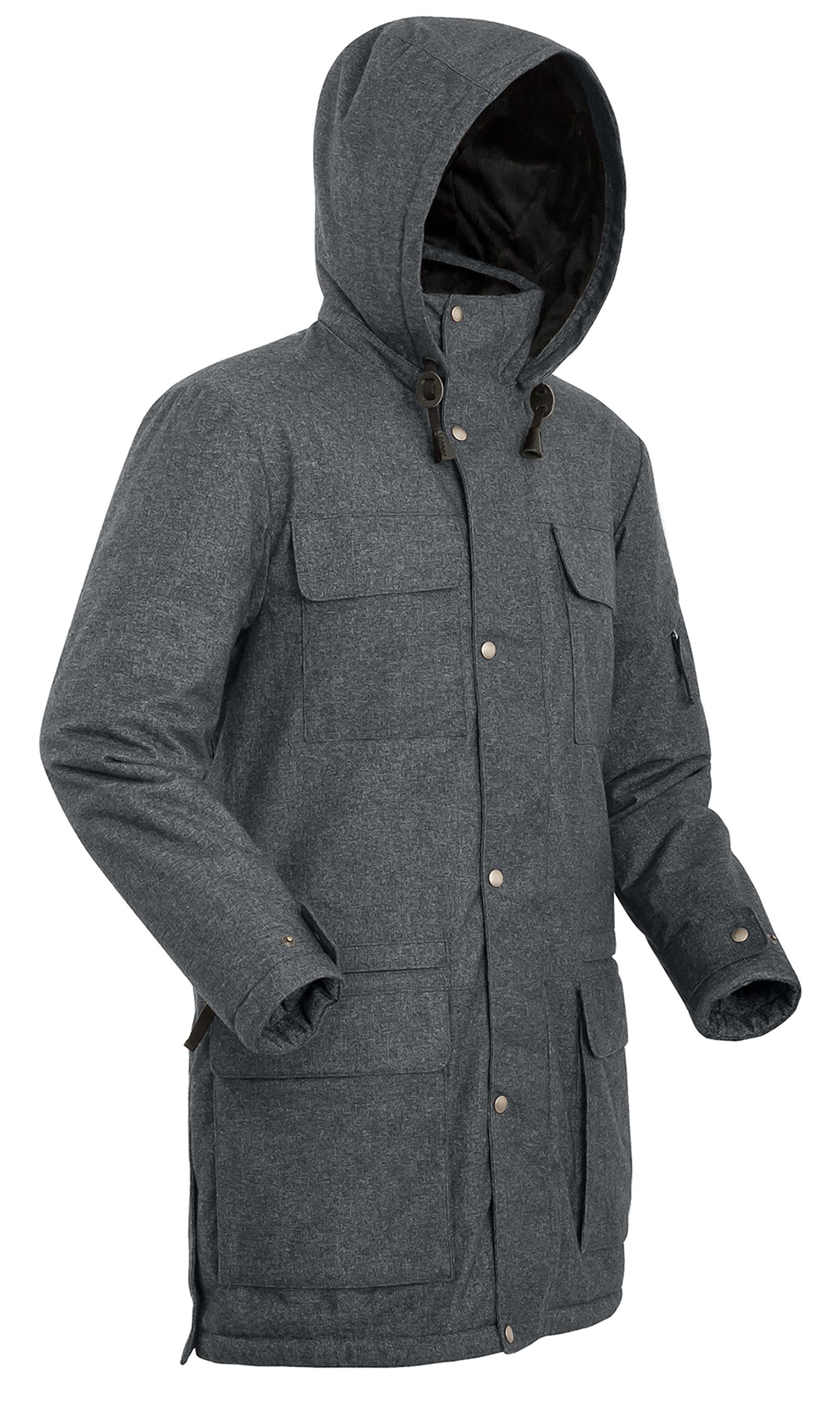 Купить Мужское пальто BASK FORESTER серый тмн, Компания БАСК
