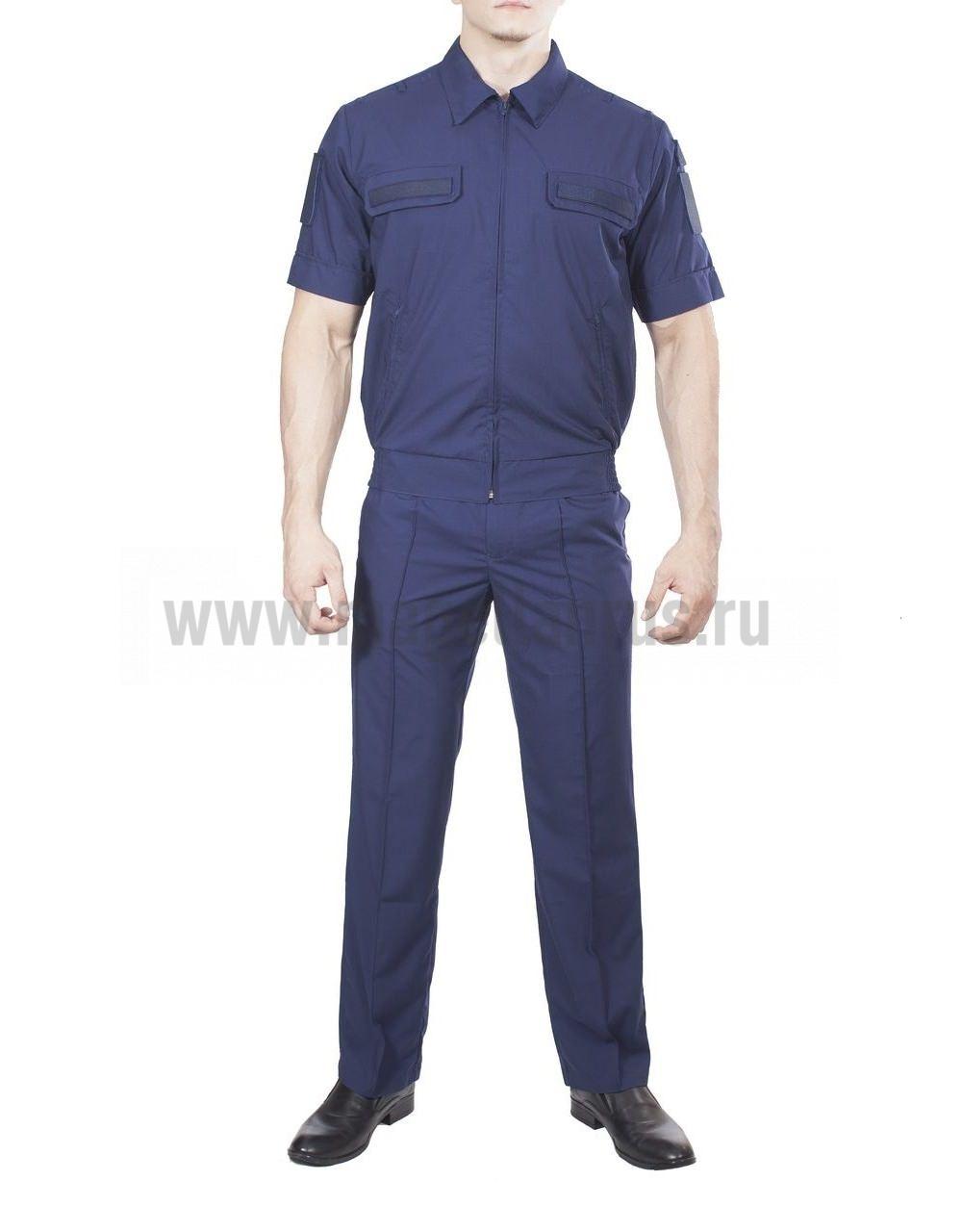 Купить Костюм летний МПА-36 штабной с коротким рукавом Синий, ткань Панацея, Магеллан
