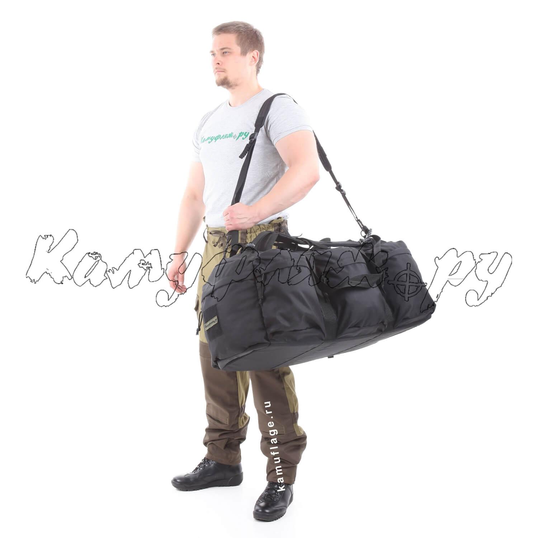 Баул-рюкзак KE Tactical Grand Tour 100л Polyamide 500 Den черный, Тактические рюкзаки - арт. 1011990264