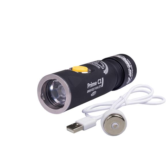 Фонарь Armytek Prime C1 Pro XP-L USB теплый(Серебро), Фонари - арт. 1034830171