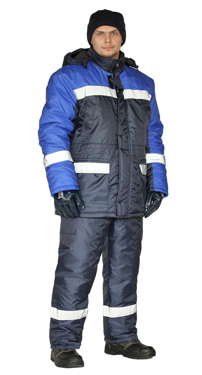 Костюм зимний СКАНДИН-СОП куртка/полукомб. цвет: т.синий/василек, Зимние костюмы - арт. 1069960258