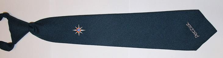 Галстук МЧС с вышивкой