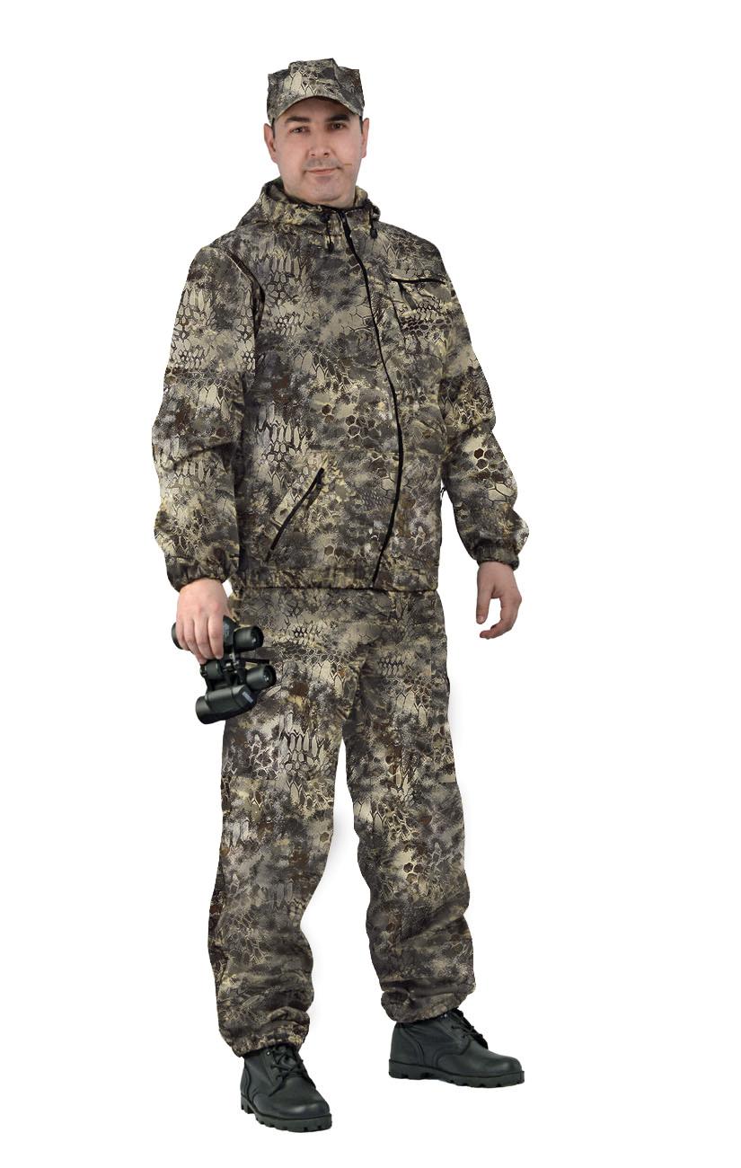 Костюм мужской Турист 1 летний, камуфляж, ткань грета Питон коричневый