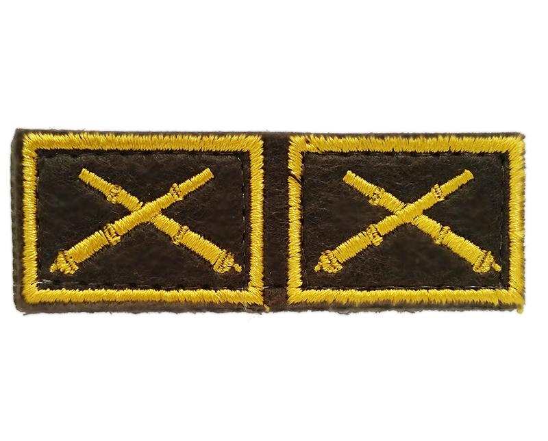 Эмблема петличная с липучкой РВиА нового образца повседневная вышивка шёлк