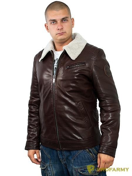 Куртка кожаная меховая 7173 Emora Brown, Куртки - арт. 1130230156