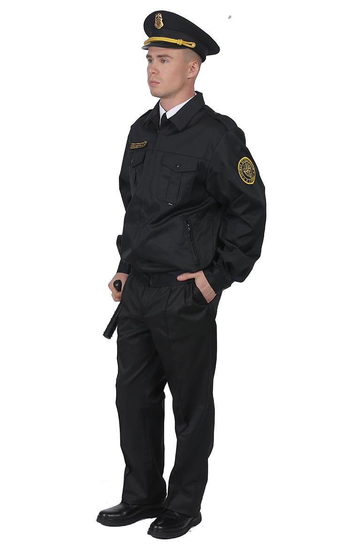 Костюм для охраны мужской б/п глянцевая смесовая 1208/1108 - артикул: 667200248