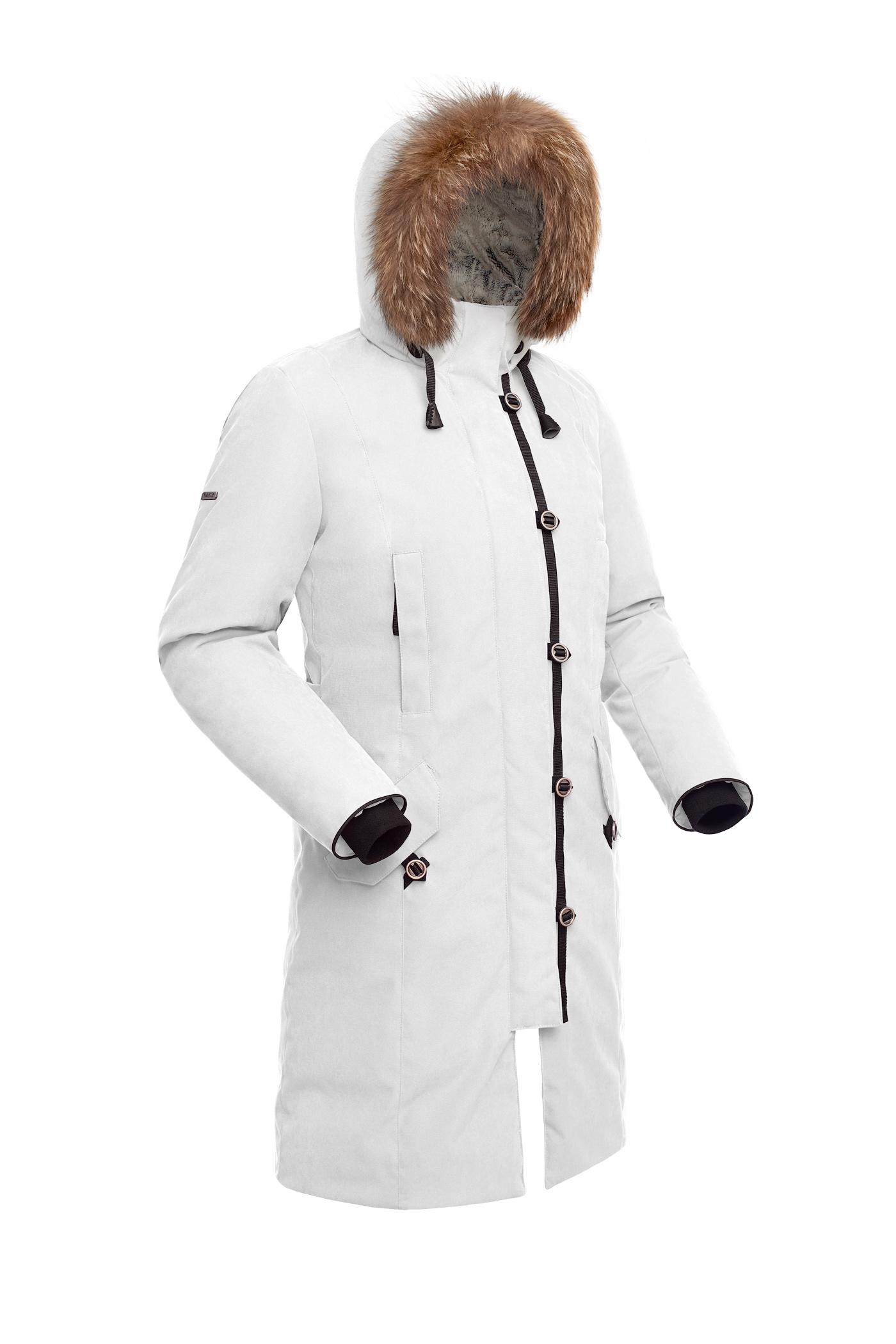 Пальто пуховое женское BASK HATANGA V2 белое, Пальто - арт. 1000040409