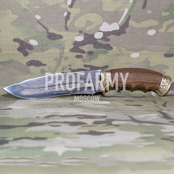 Нож Подарок с Кавказа (латунь, карта)
