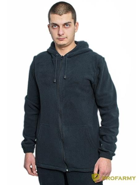 Куртка флисовая TERRA черная, Толстовки - арт. 1065100187
