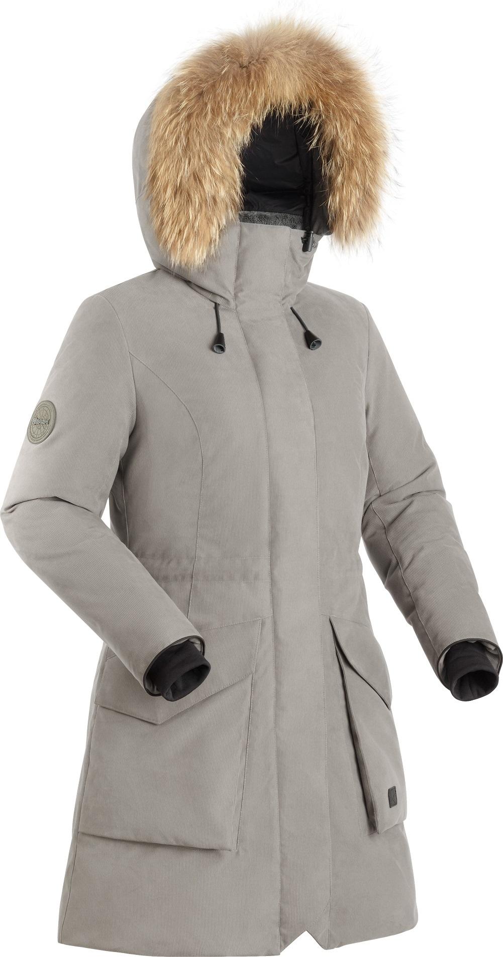 Купить Пальто пуховое женское BASK VISHER светло-серое, Компания БАСК