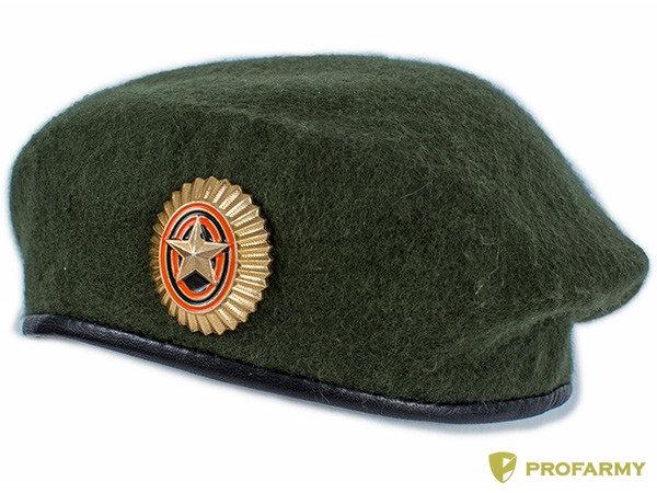 Берет ВС РФ (олива) с кокардой