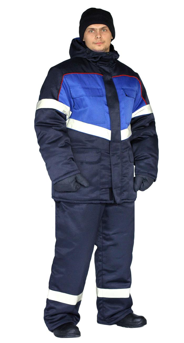 Костюм зимний ВЕКТОР-УЛЬТРА куртка/полукомбинезон темно-синий, Зимние брюки и полукомбинезоны - арт. 1124340348