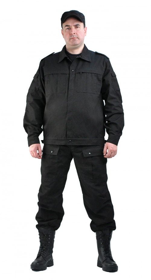 Костюм мужской  Спецназ  рип-стоп черный - артикул: 797070248