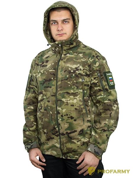 Куртка флисовая SHERPA PF3-12 мультикам, Куртки из Polartec и флиса - арт. 1053180330