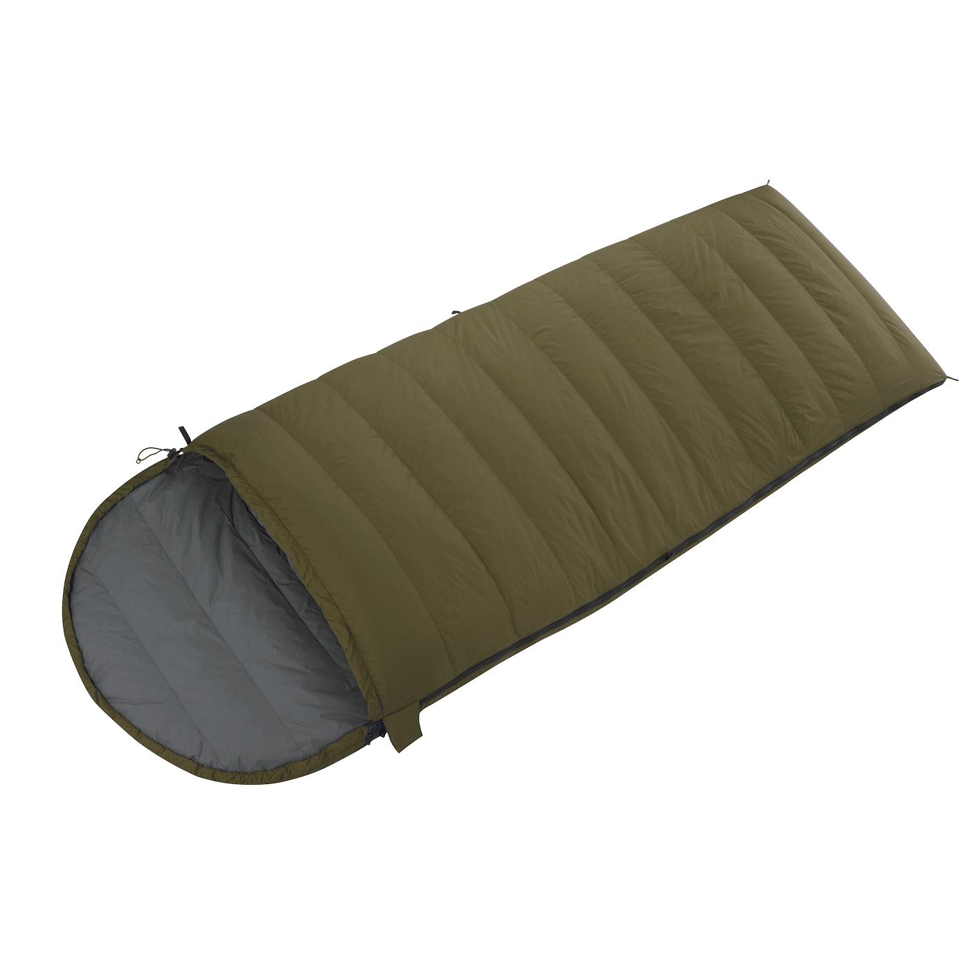 Спальный мешок BASK BLANKET PRO M -28 LEFT хаки/темно-серый, Кемпинговые (Лето) спальники - арт. 853710372