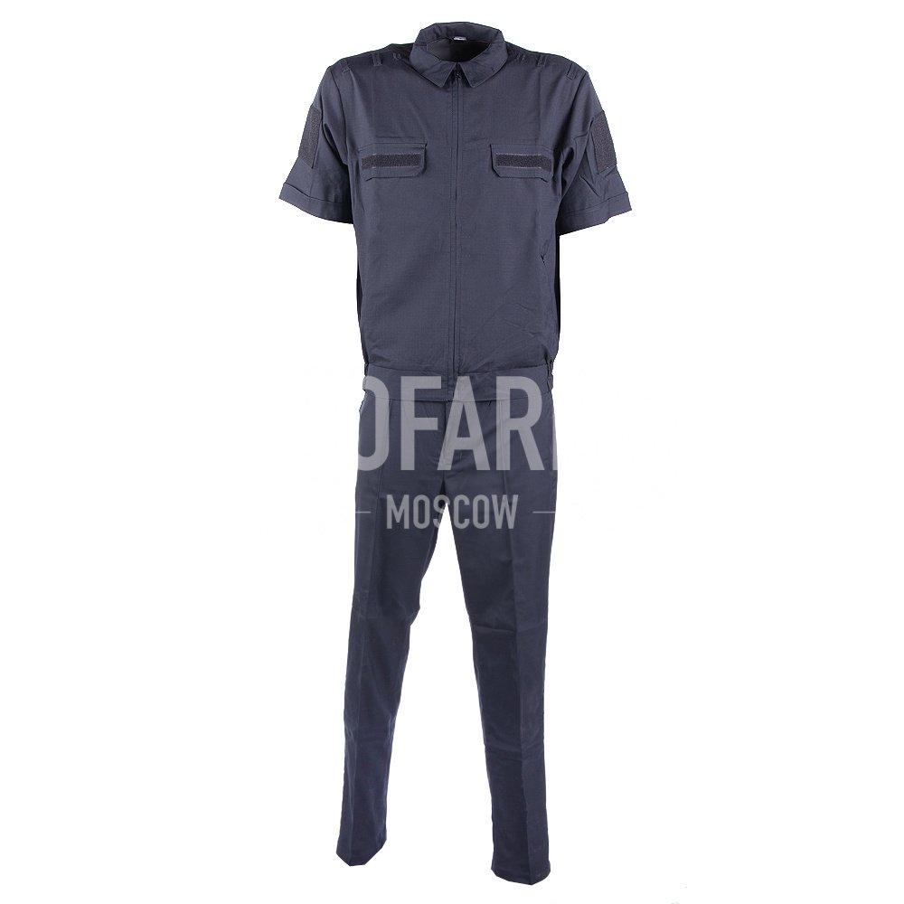 Костюм офисный ВМФ короткий рукав, RipStop 170 (черный), Форменные костюмы - арт. 864520247