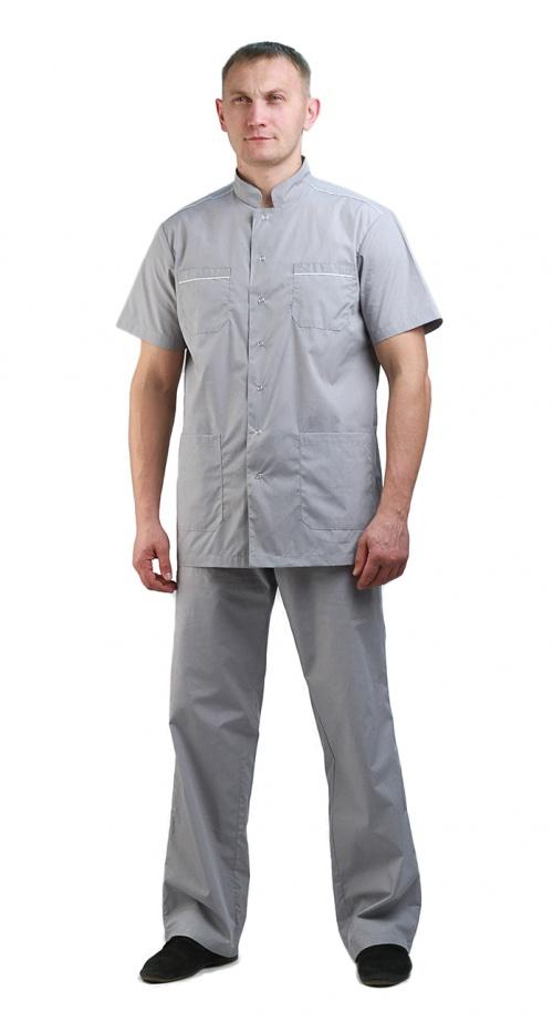 Костюм мужской  Доктор  серый с белым, Медицинские костюмы - арт. 769220249
