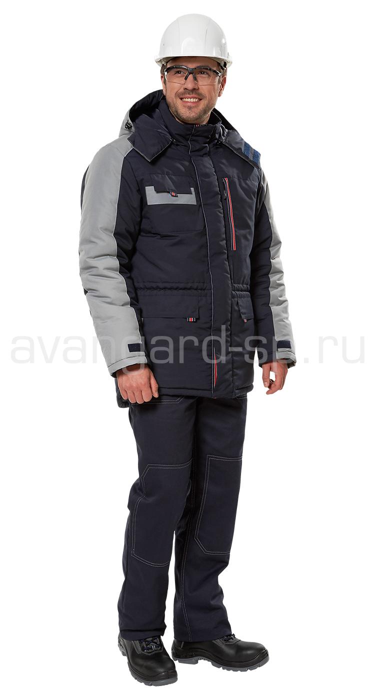 Куртка «Челленджер» утепленная (синяя-серая)