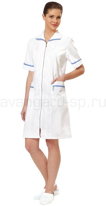 Халат медицинский женский Кокетка