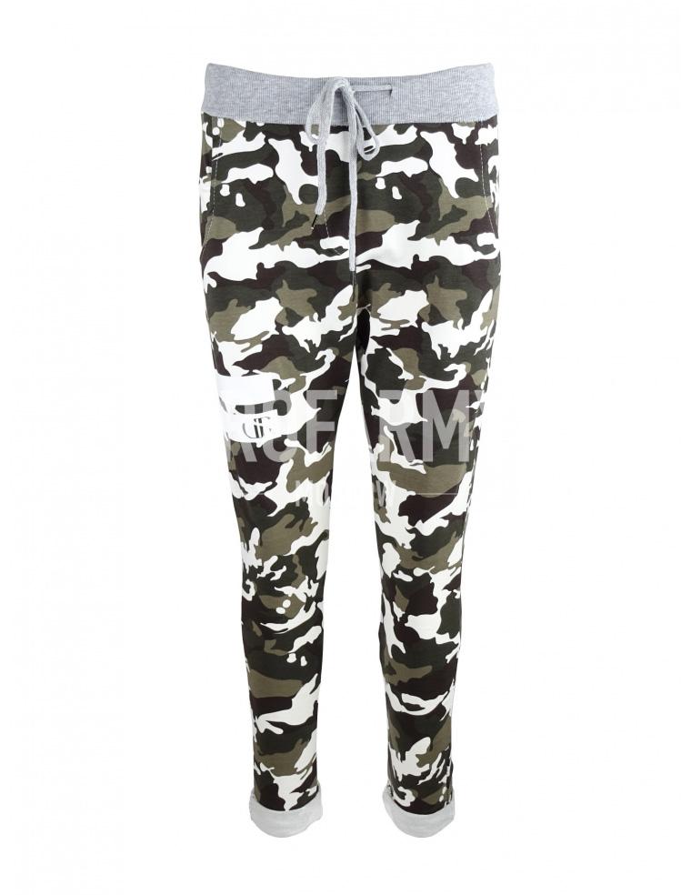Спортивные брюки женские камуфляж - артикул: 910130349