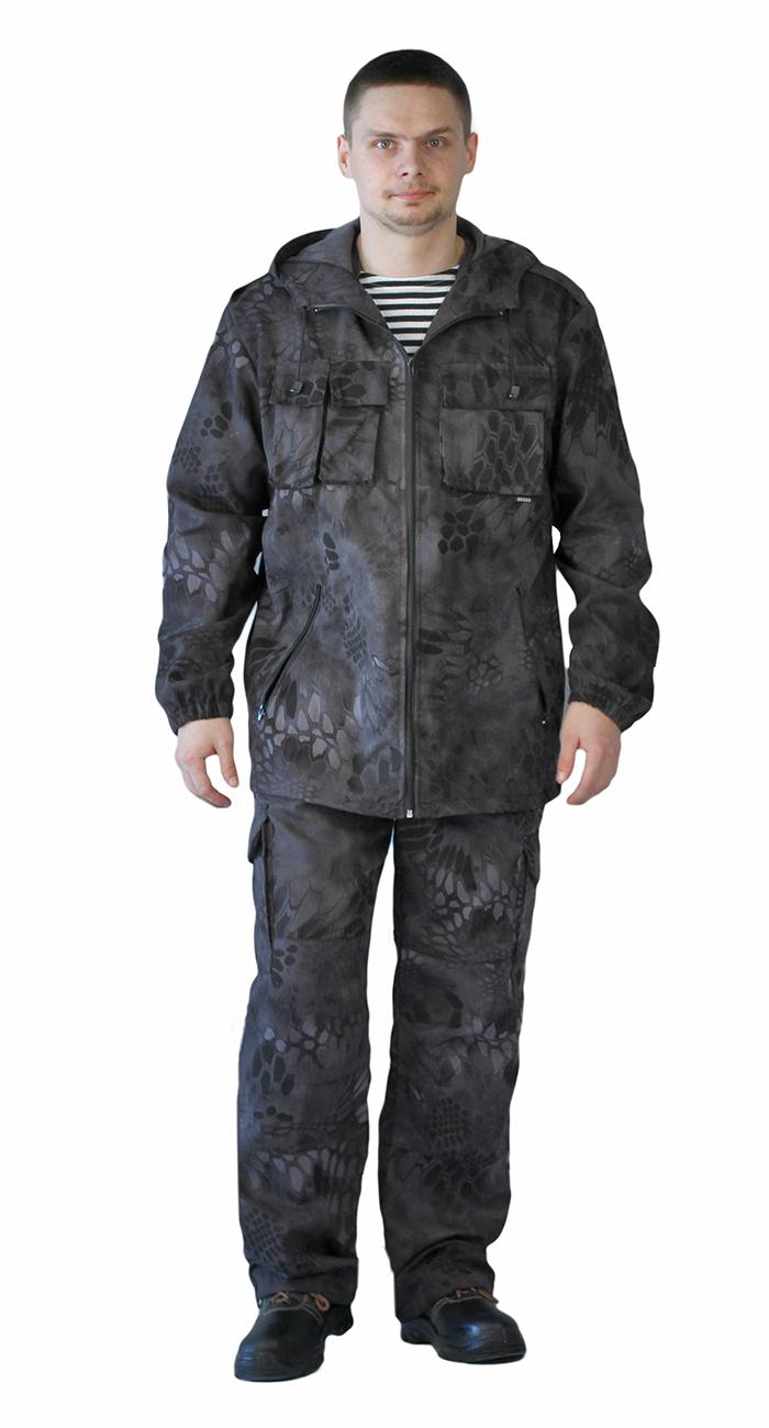 Костюм мужской Турист 2 летний, камуфляж Твилл Пич питон ночь, Летние костюмы - арт. 1004900260