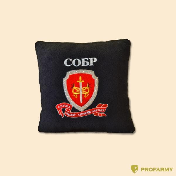 Подушка сувенирная с вышивкой СОБР, Постельные принадлежности - арт. 908180397