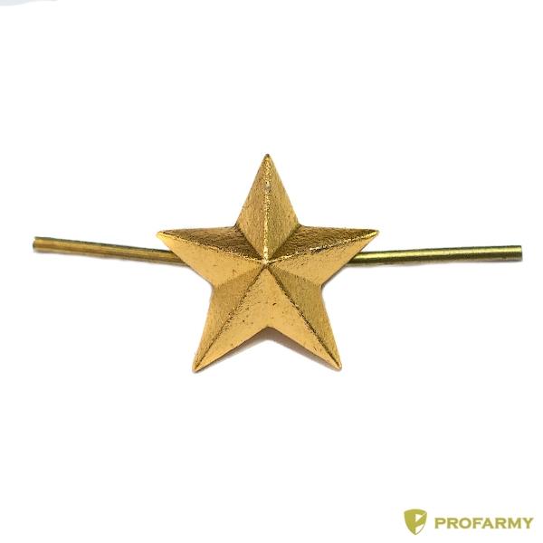 Звезда 13 мм металлическая золотая (ФМ-158)