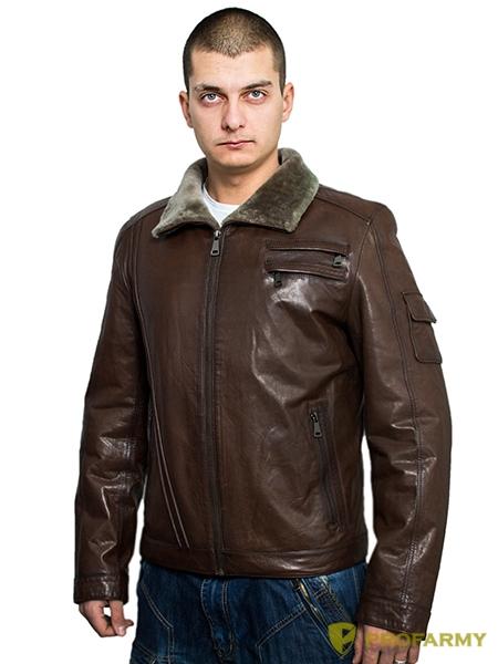 Куртка кожаная Herrmann натуральный мех