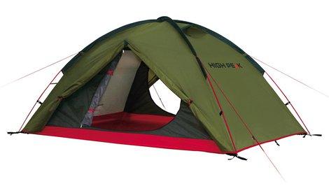 Купить Палатка Woodpecker 3 зеленый/красный, 340х190х220, 10194, High Peak