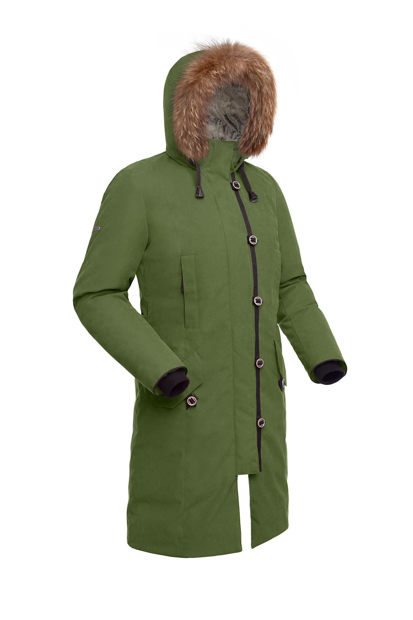 Пальто пуховое женское BASK HATANGA V2 хаки светлый, Пальто - арт. 971290409