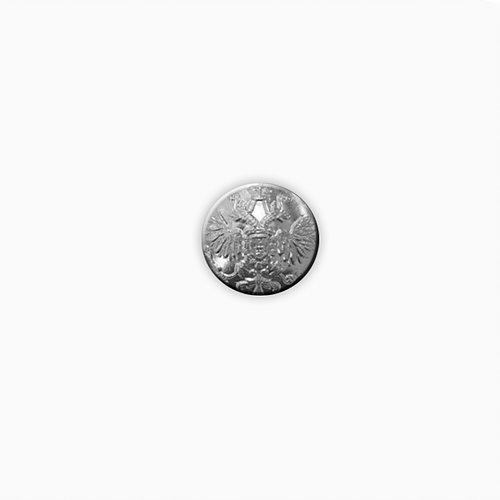 Купить Пуговица Царская серебро 22 мм., Форма одежды