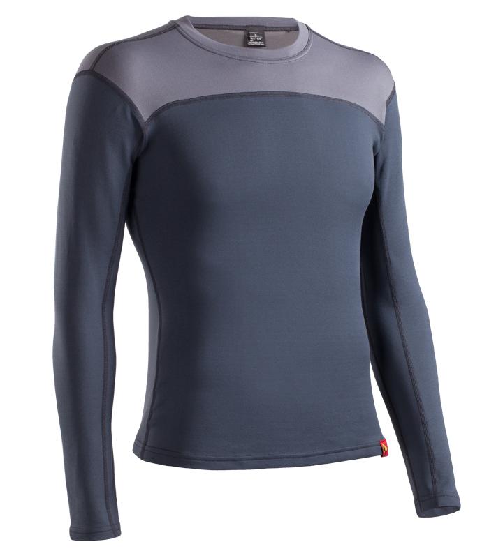 Купить Термобелье куртка BASK SLIM FIT PON U SLEEVE серый тмн/серый, Компания БАСК