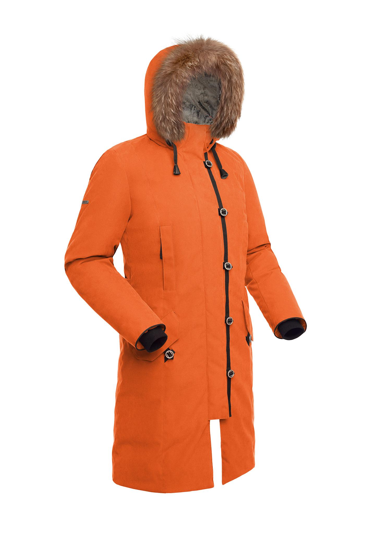 Пальто пуховое женское BASK HATANGA V2 оранжевое, Пальто - арт. 999830409