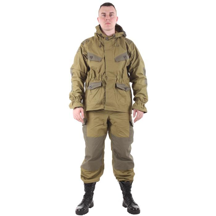 Костюм Снайпер-2 с налокотниками и наколенниками хаки с накладками олива, Тактические костюмы - арт. 983170259
