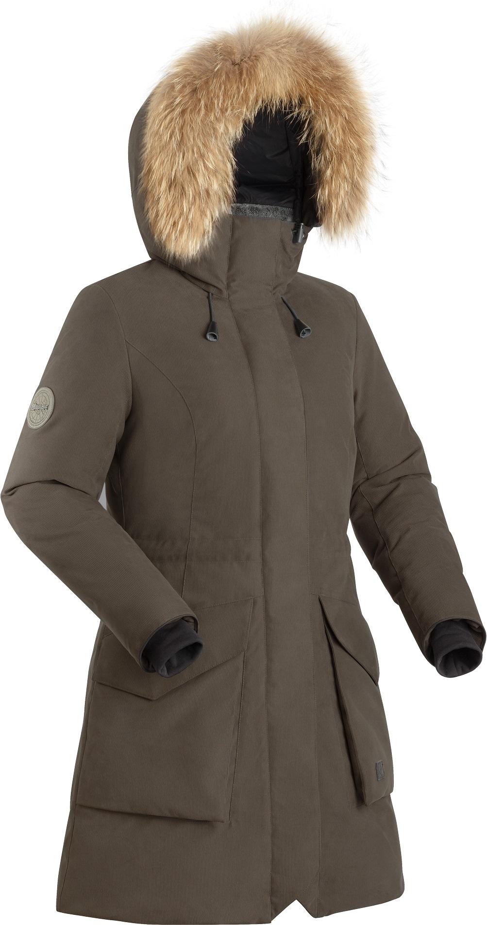 Пальто пуховое женское BASK VISHERA ЛАТТЕ, Пальто - арт. 1132480409